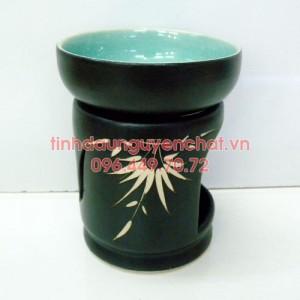 Đèn xông tinh dầu nến họa tiết trúc đĩa tròn